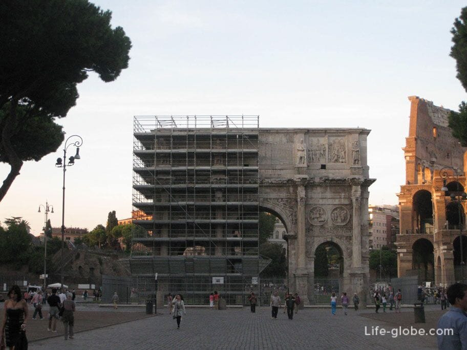 triumphal arch of Constantine Rome Italy