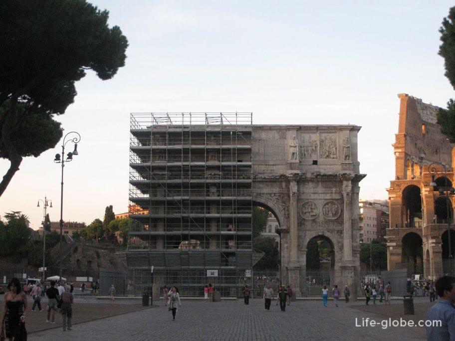 триумфальная арка Константина Рим Италия