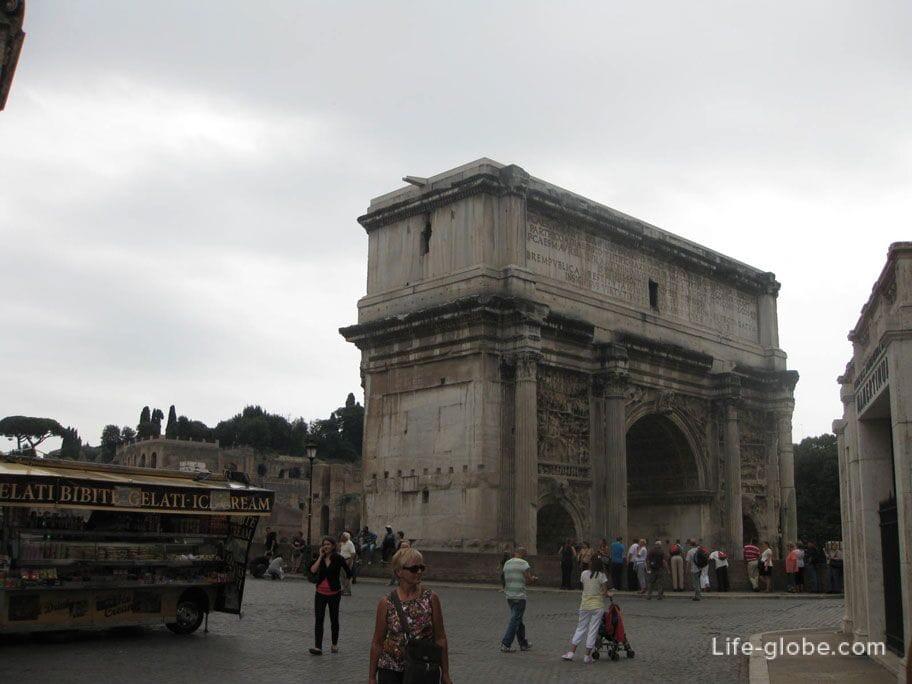 arc de Triomphe of Septimus Severus Rome Italy