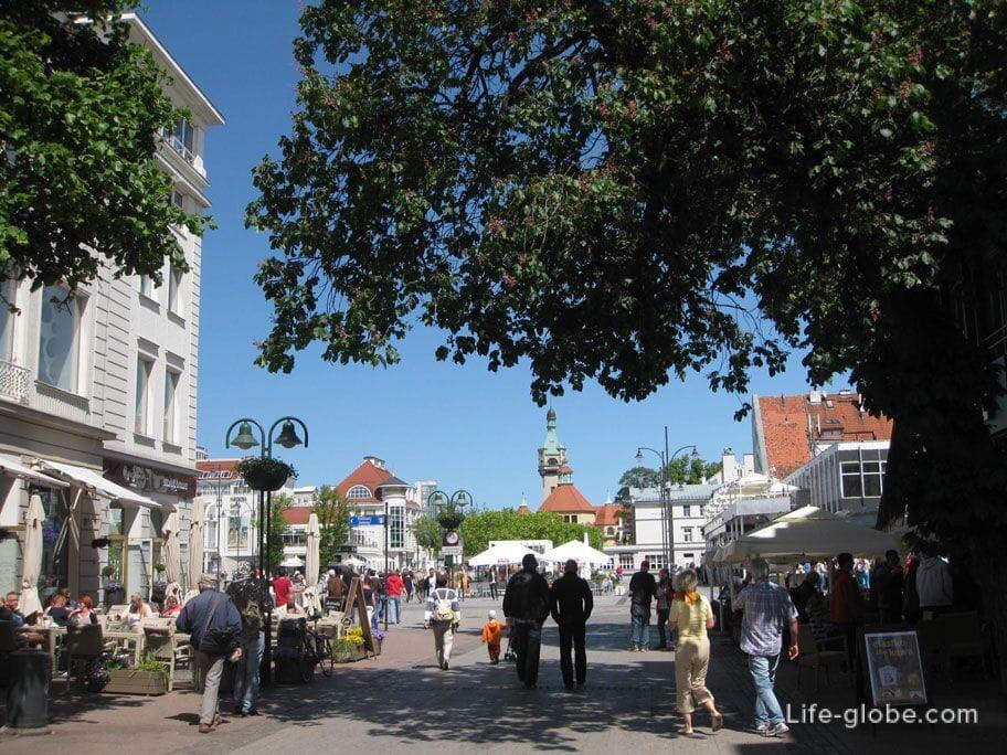 the main walking street of Sopot