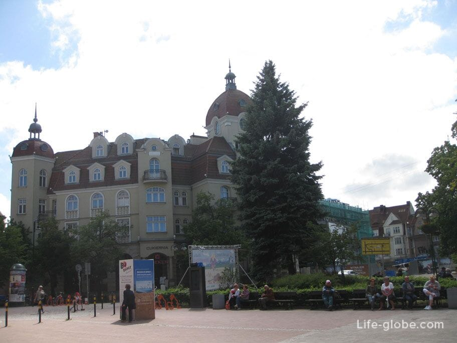 the square near the church of St. George Sopot
