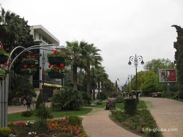 Пешеходная улица Навагинская в городе Сочи