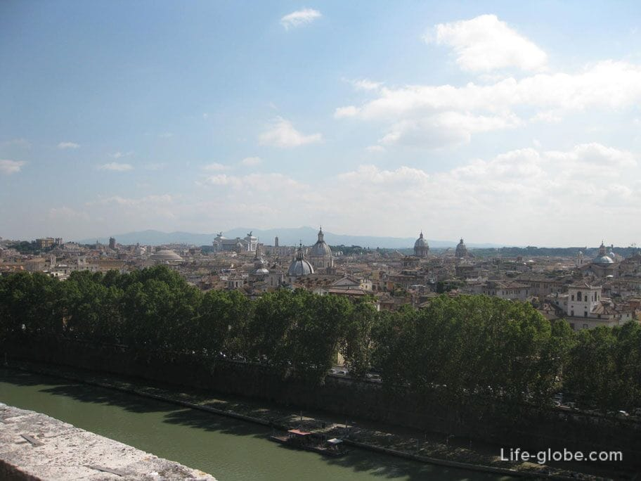 вид на Рим и реку Тибр, Италия