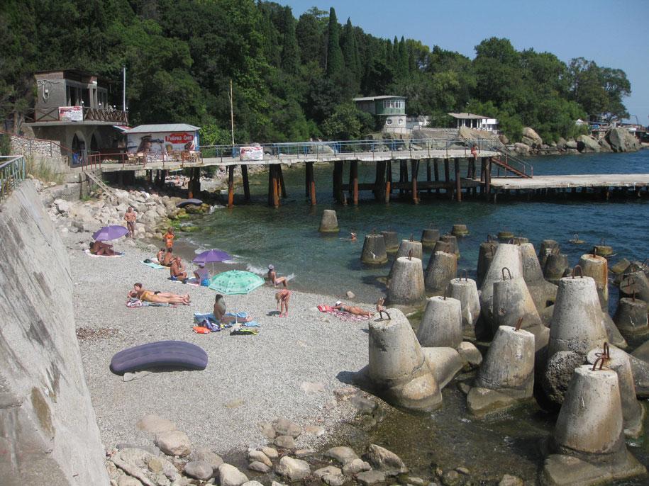 Пляжи Алупки, Крым