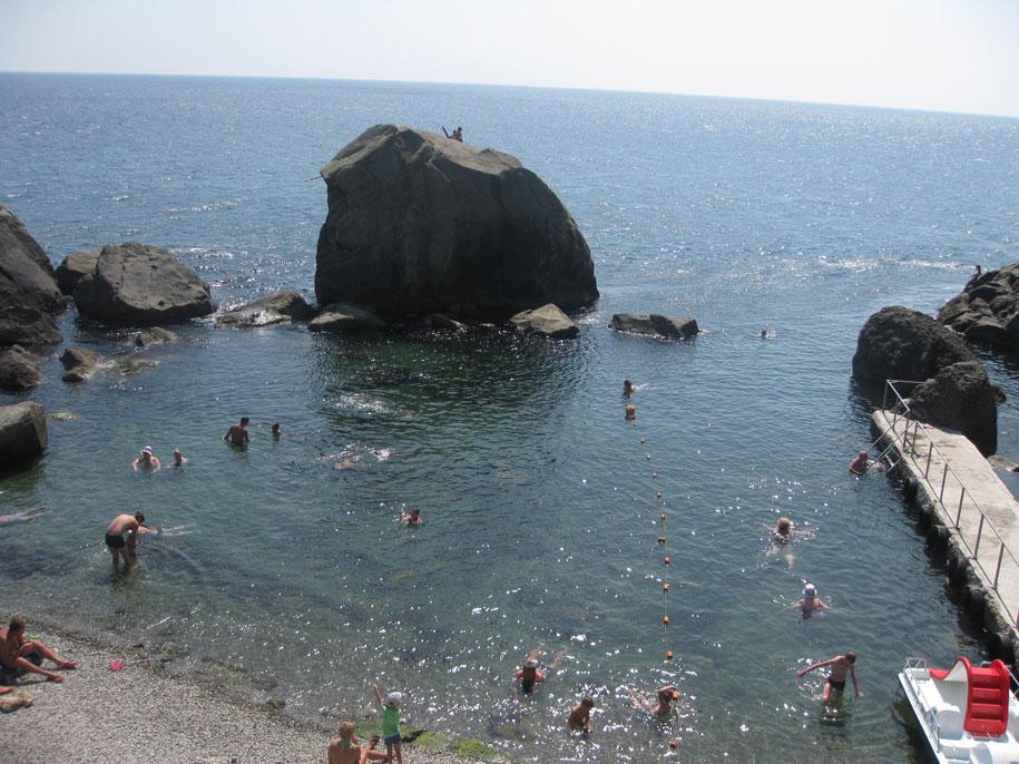 Центральные пляжи города Алупки