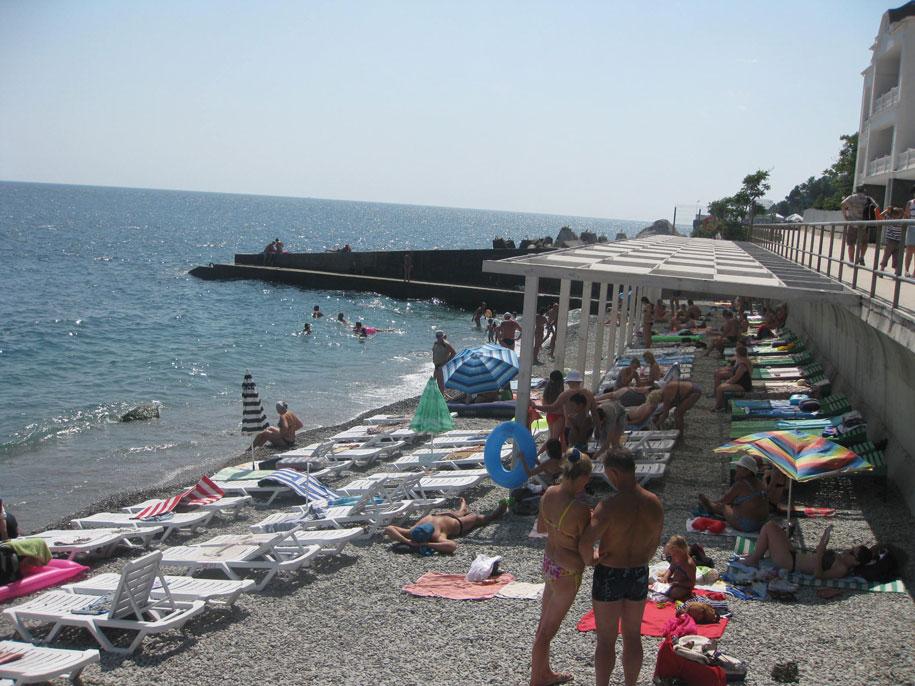 Центральные пляжи Алупки
