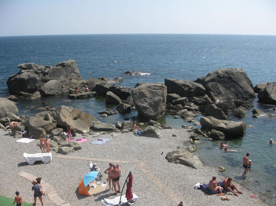 Центральные пляжи города Алупки, Крым