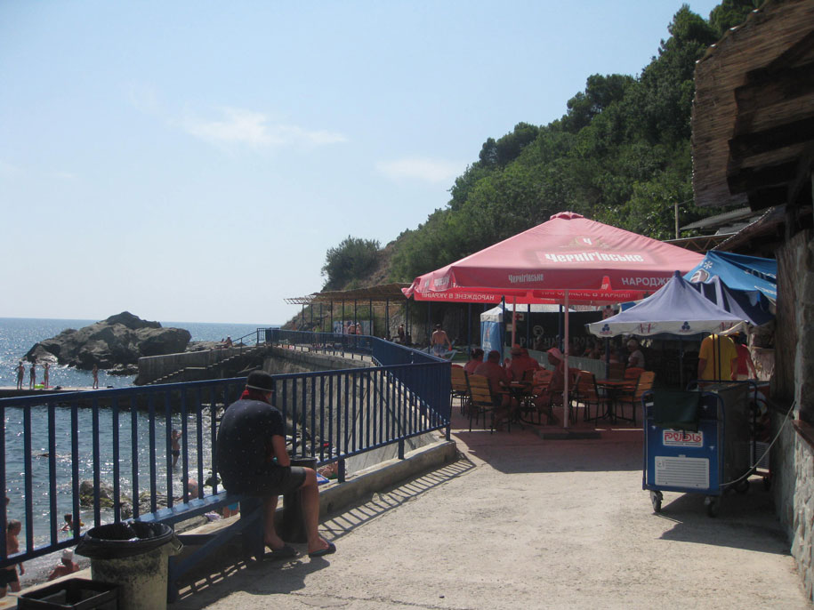 Набережная возле Алуптинского пляжа, Купальни Графа Воронцова