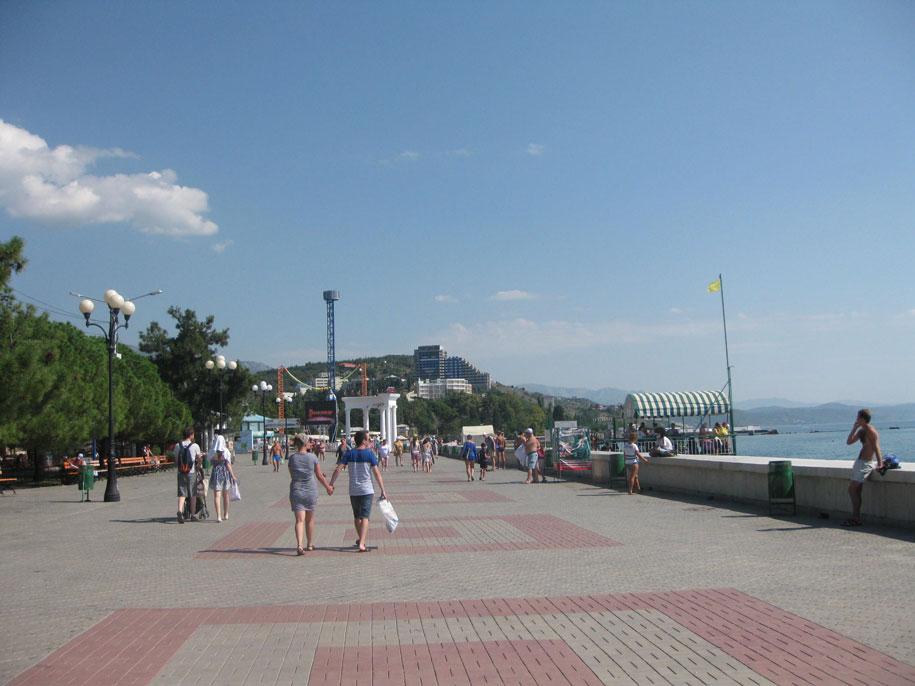Пляжи Крыма - набережная Алушты
