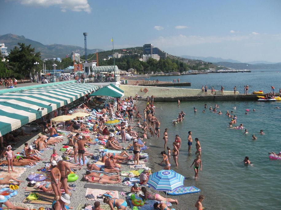Пляжи Крыма - пляжи Алушты