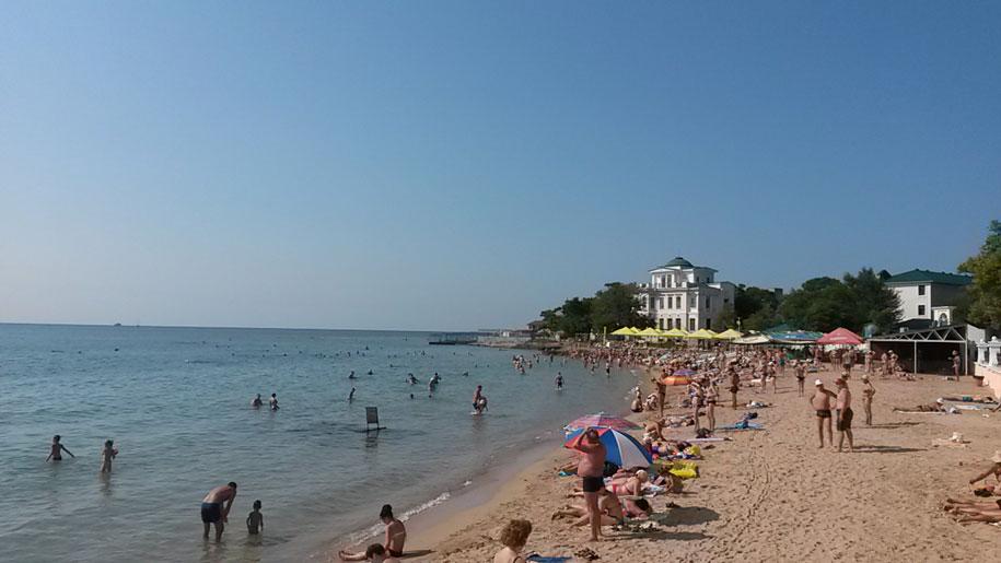 Центральные пляжи Евпатории