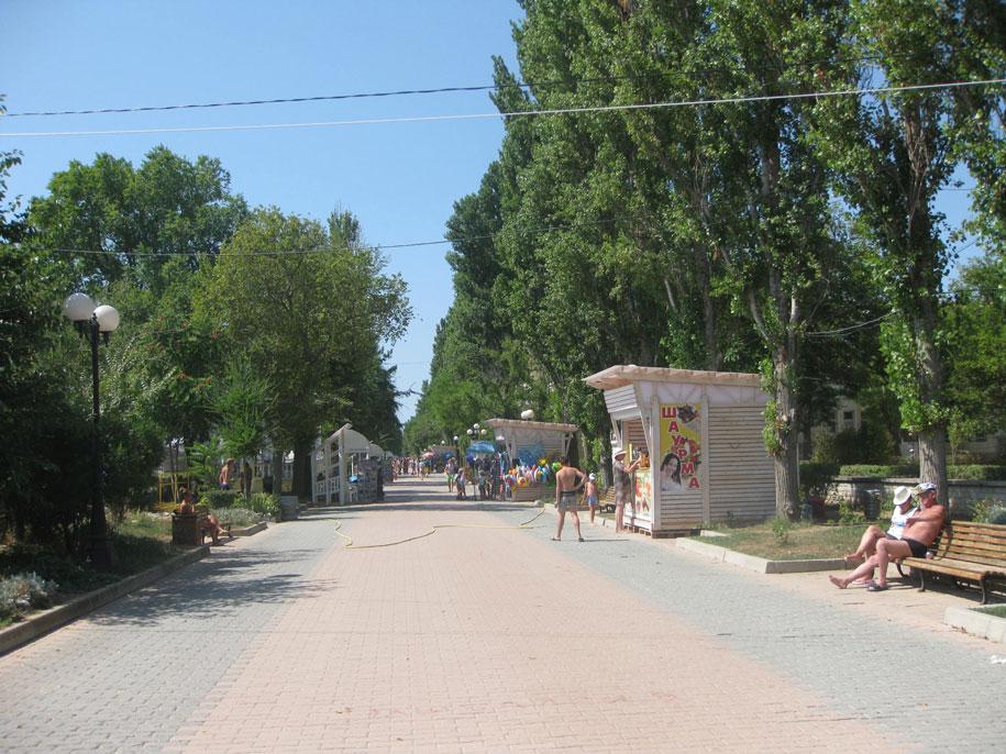 Набережная Горького в Евпатории