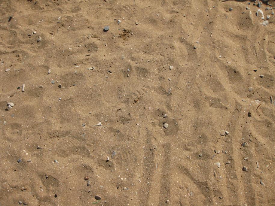 Песок на Золотых пляжах в Феодосии