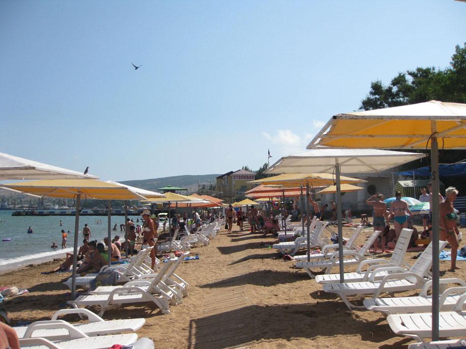 Пляжи Крыма - Золотой пляж, Феодосия