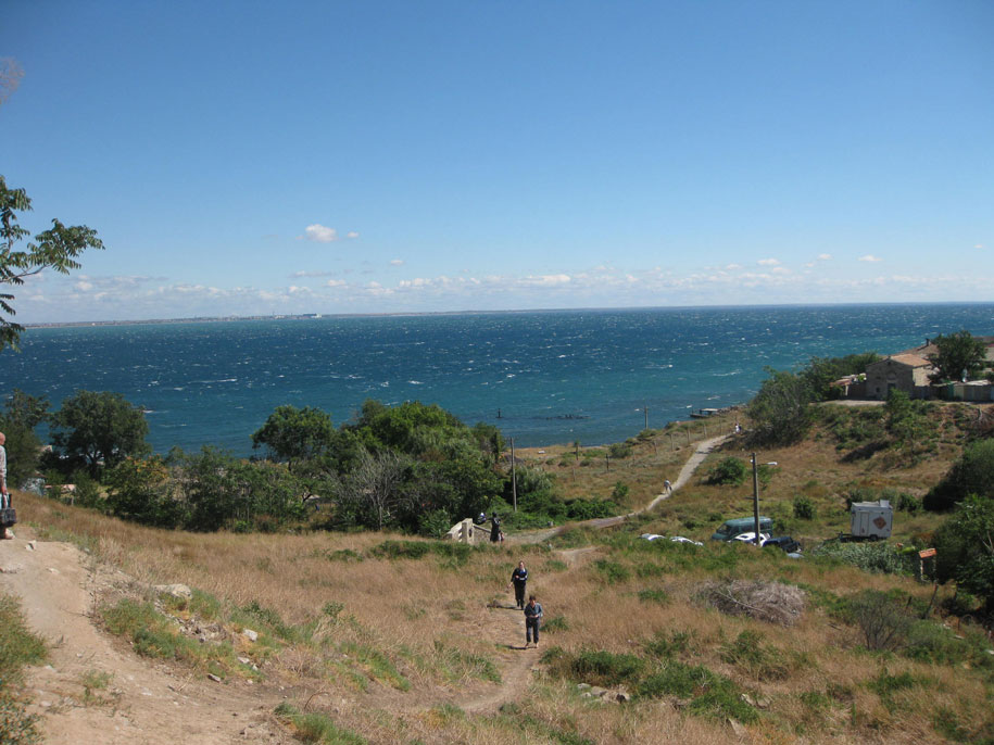Вид с Генуэзской крепости в Феодосии