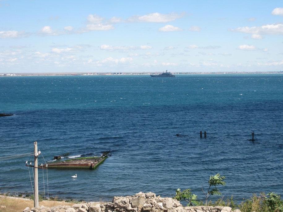 Черное море, вид из Старого горда в Феодосии