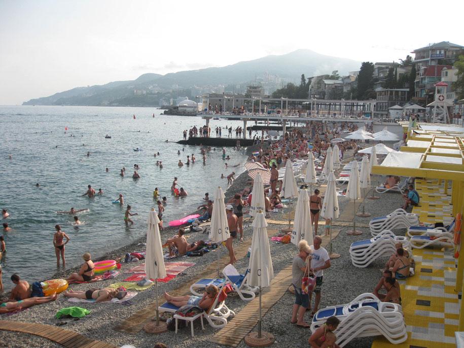 Пляжи Крыма - Массандровский пляж в Ялте