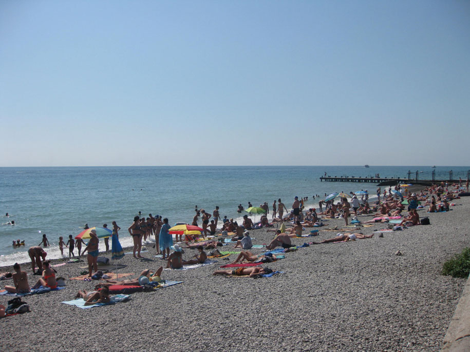 Пляжи Крыма - пляжи Ялты