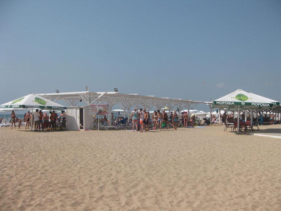 Лучший пляж Евпатории - Лазурный берег, Крым
