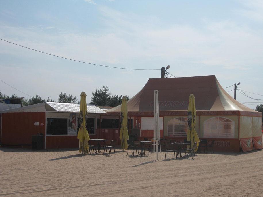 Кафе на пляже Оазис, Ачуево