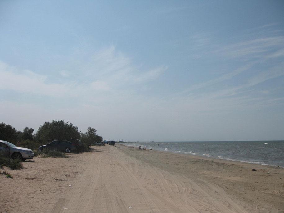 Дикие пляжи Азовского моря возле Ачуево