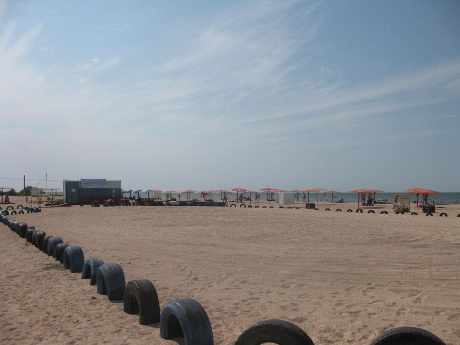 Пляжные развлечения на пляже Оазис, Ачуево