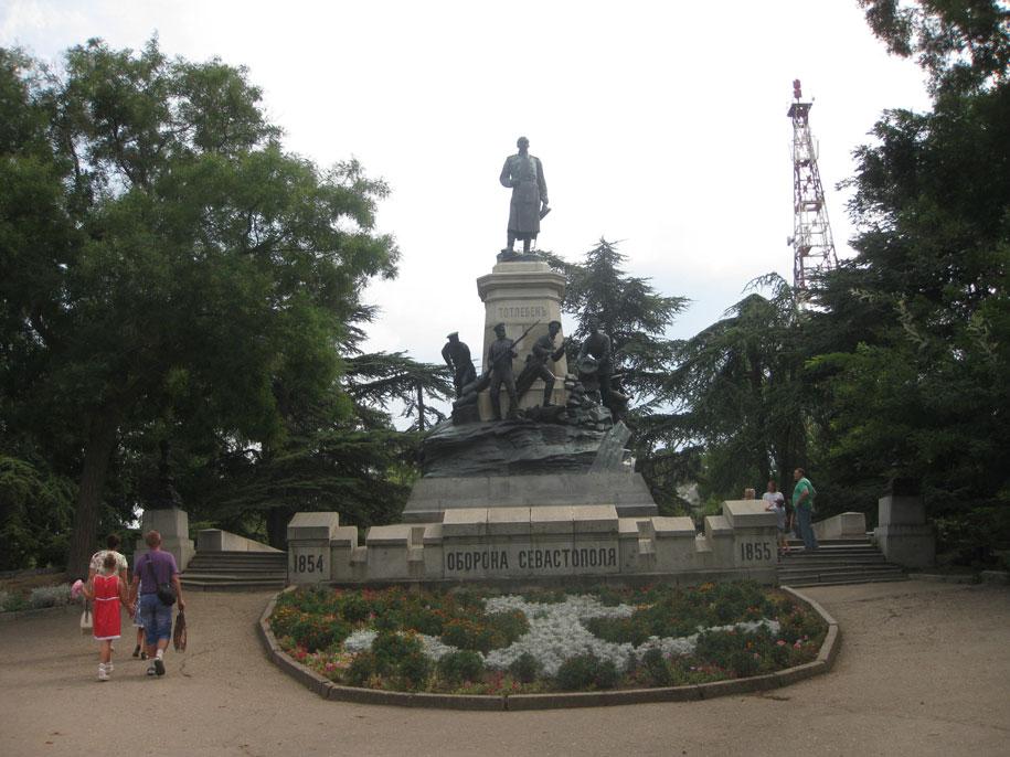 Памятник, посвященный обороне Севастополя, Бастионный холм