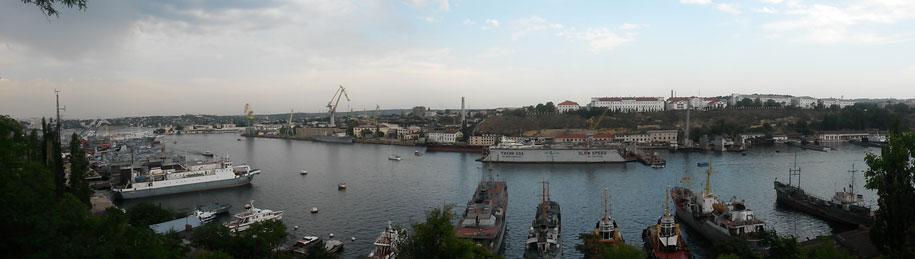 Вид с Ротонды, смотровой площадки, Севастополь