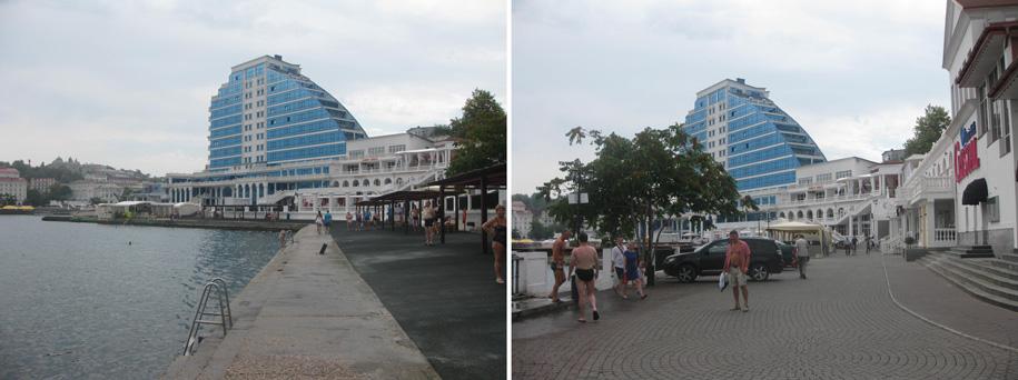 Пляж и набережная возле переправы, Севастополь