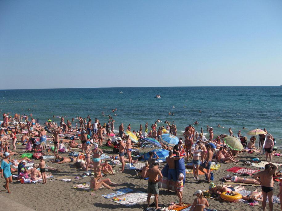 Пляжи Крыма - пляжи Судака