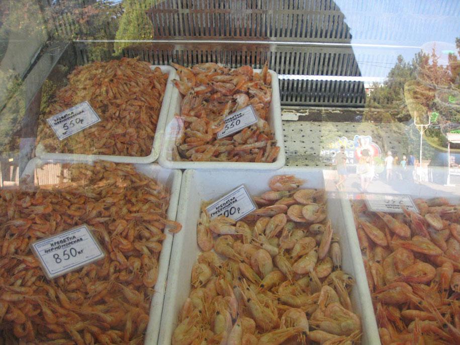 Цены в Крыму на креветки