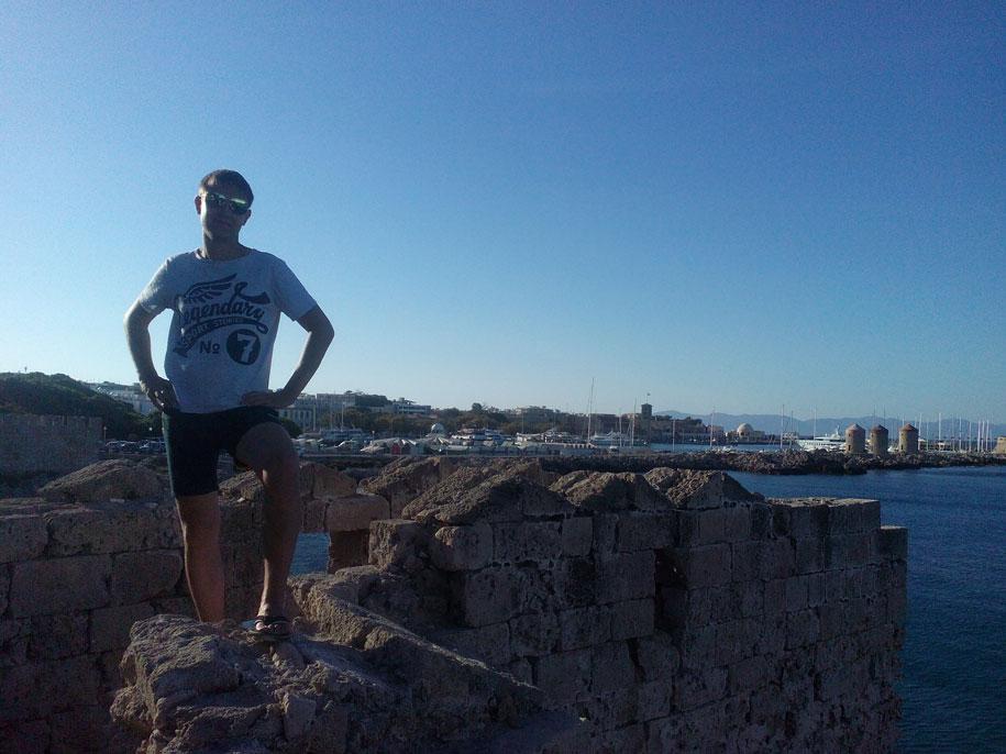 Старый город у побережья, Родос, Греция