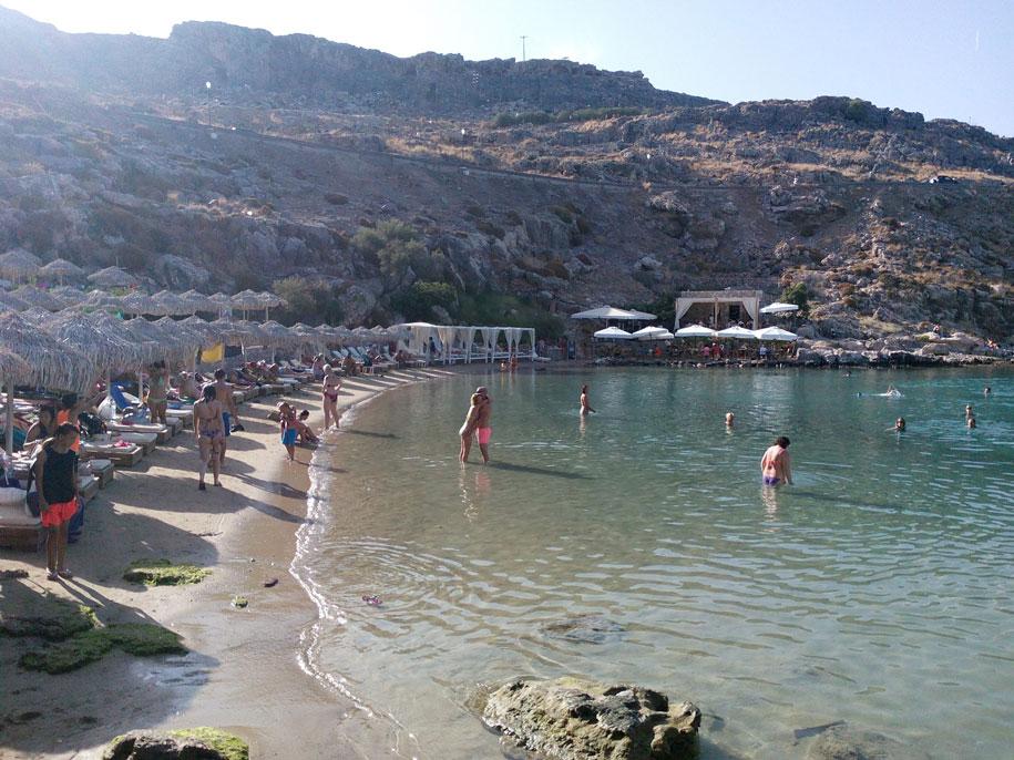 Бухта влюбленных, Родос, Греция