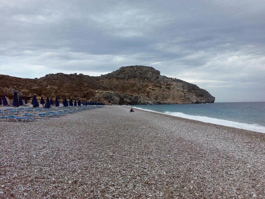 Пляж возле Фалираки, Родос, Греция