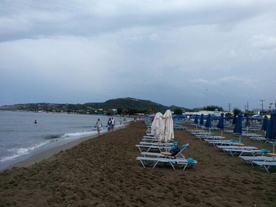 Пляж Фалираки, Родос, Греция