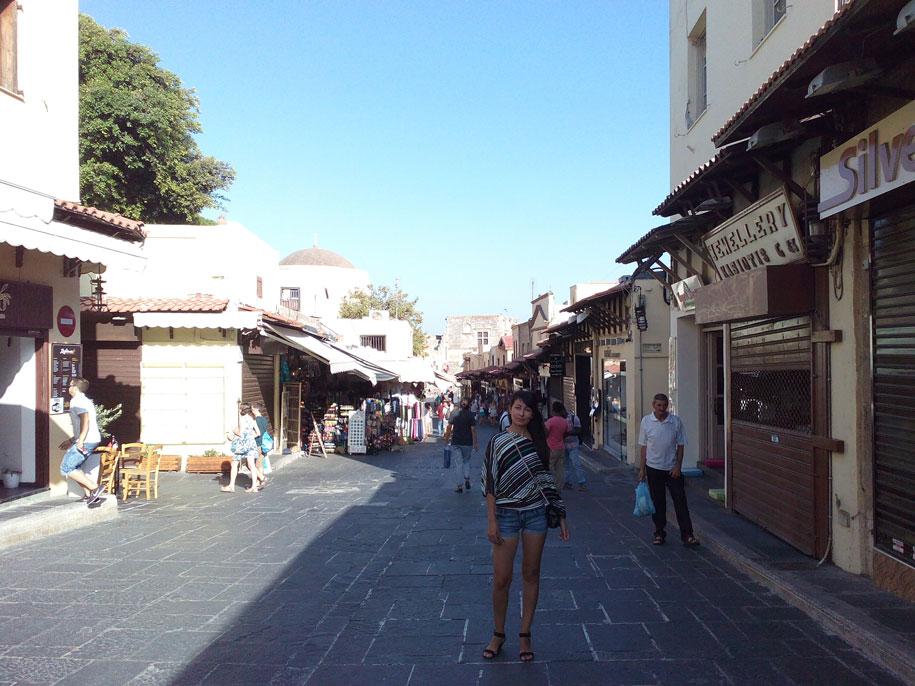 Торговые улицы Старого города Родоса, Греция