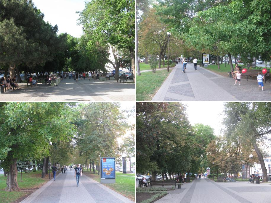 Прогулочный бульвар на улице Красной, Краснодар