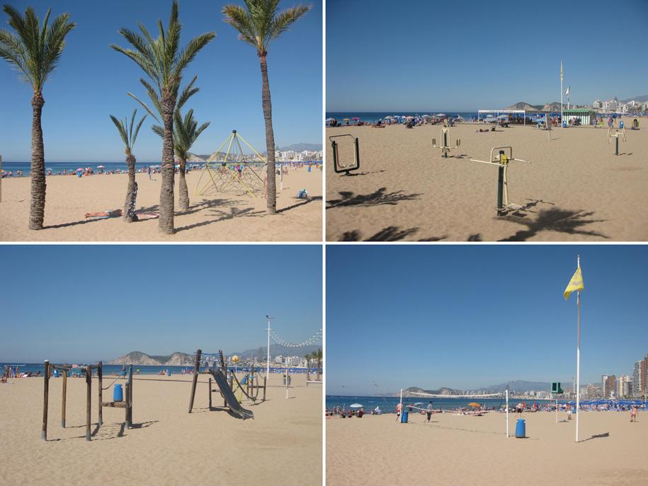 Пляжи Бенидорма - инфраструктура пляжа Леванте
