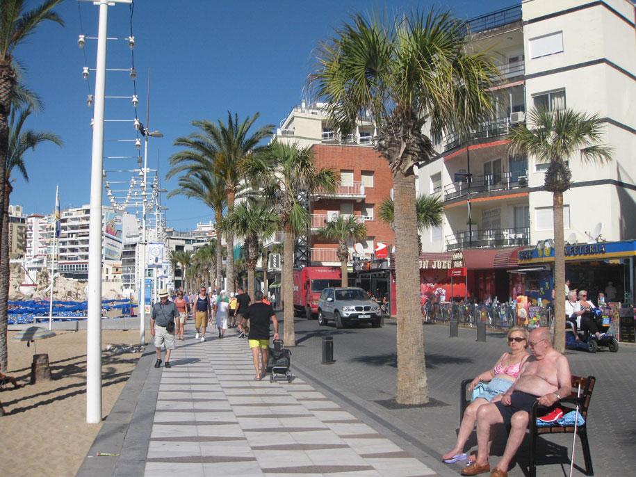 Набережная пляжа Леванте, Бенидорм, Испания