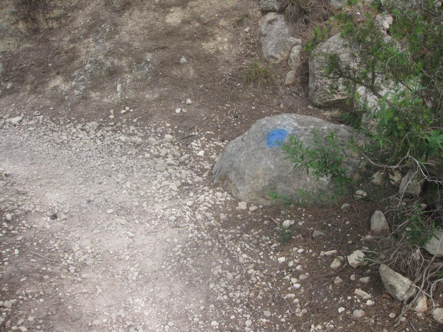 Метки-ориентиры к пляжу Raco Del Conill, Испания