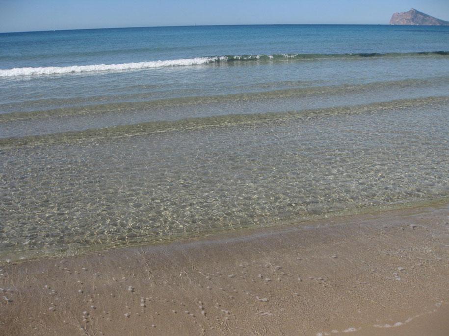 Морская вода, пляж Ареналь, Кальпе