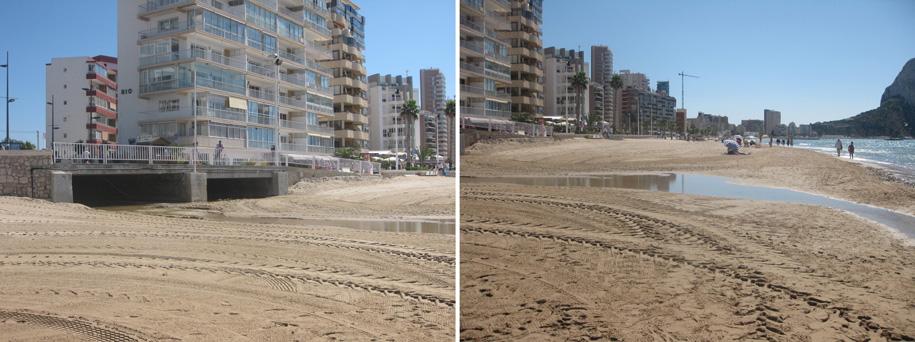 Правая сторона пляжа Ареналь-Бол в Кальпе