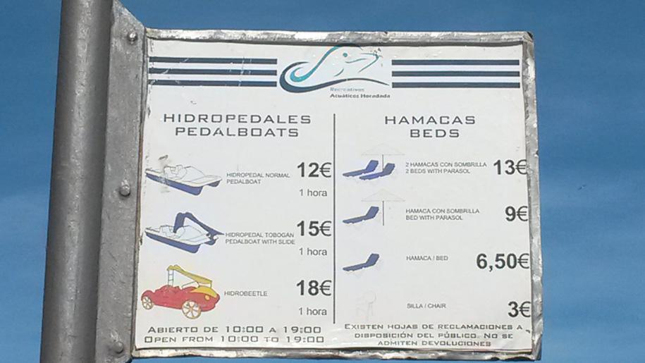 Пляж Дель Кура в Торревьехе, цены