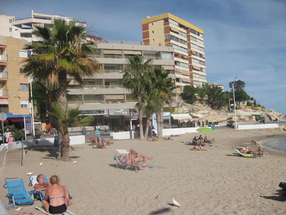 Пальмы на пляже Финестрат, Испания