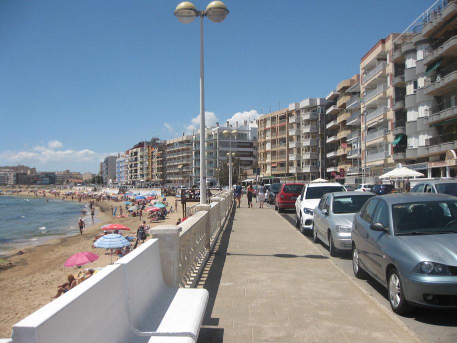 Набережная-тротуар, пляж Лос Локос, Торревьеха