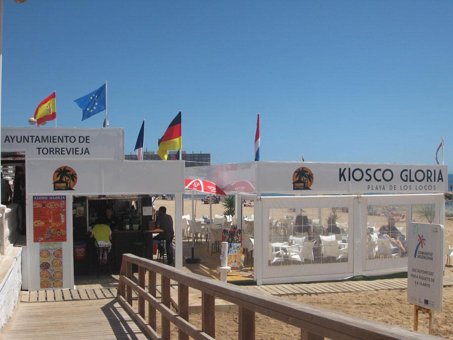 Кафе на пляже Лос Локос, Торревьеха
