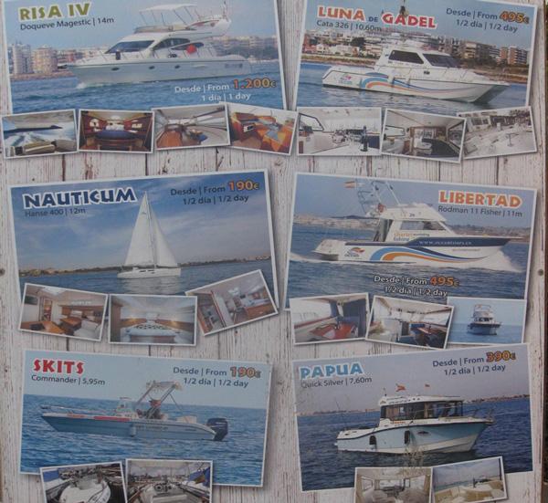 Прокат лодок и яхт, Торревьеха, цены