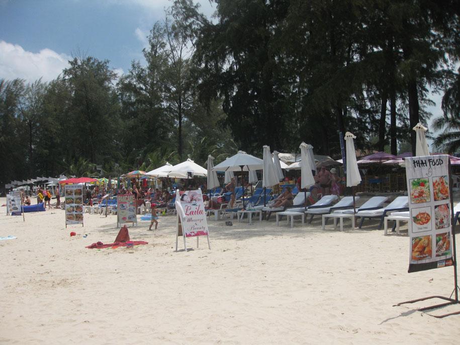 Южная часть пляжа Банг Тао
