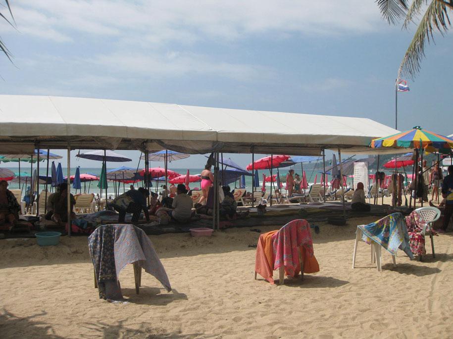 Массаж на пляже Камала, Пхукет