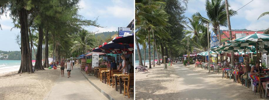 Кафе на набережной, пляж Камала